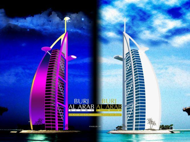 night room Burj Al Arab wallpaper