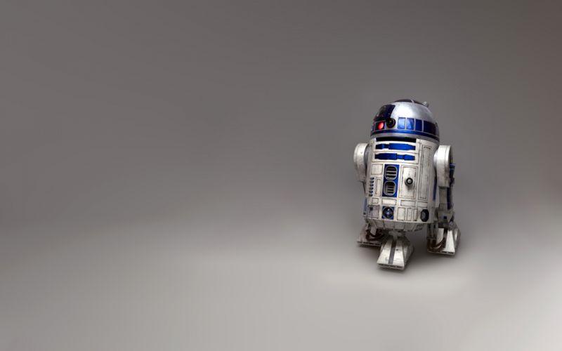 Star Wars R2D2 grey background wallpaper