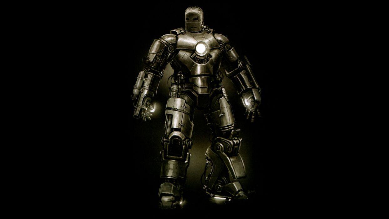 Iron Man suit superheroes mark Marvel Comics black background Mark I wallpaper