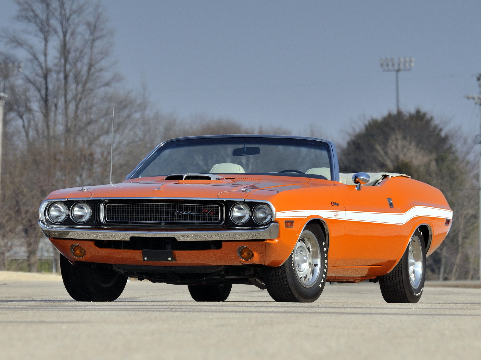 Challenger Muscle Car Convertible Wallpaper