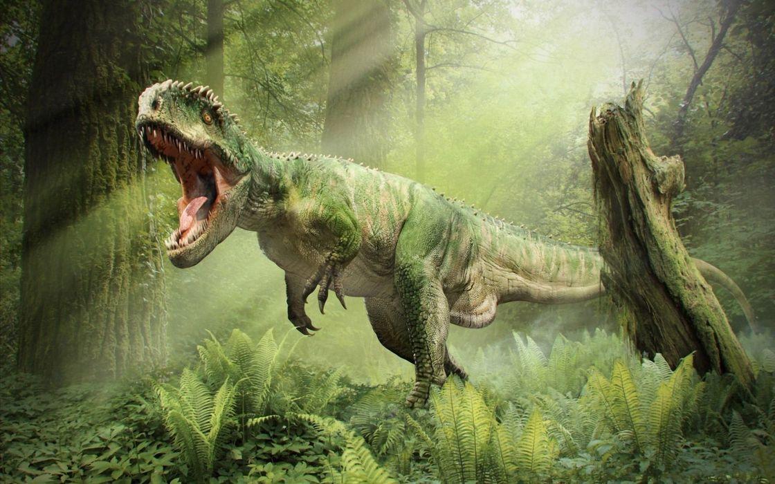 Tyrannosaurus rex roar t-rex dinosaur wallpaper
