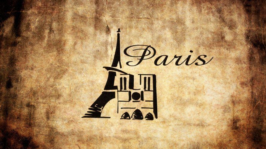 Paris France logos wallpaper