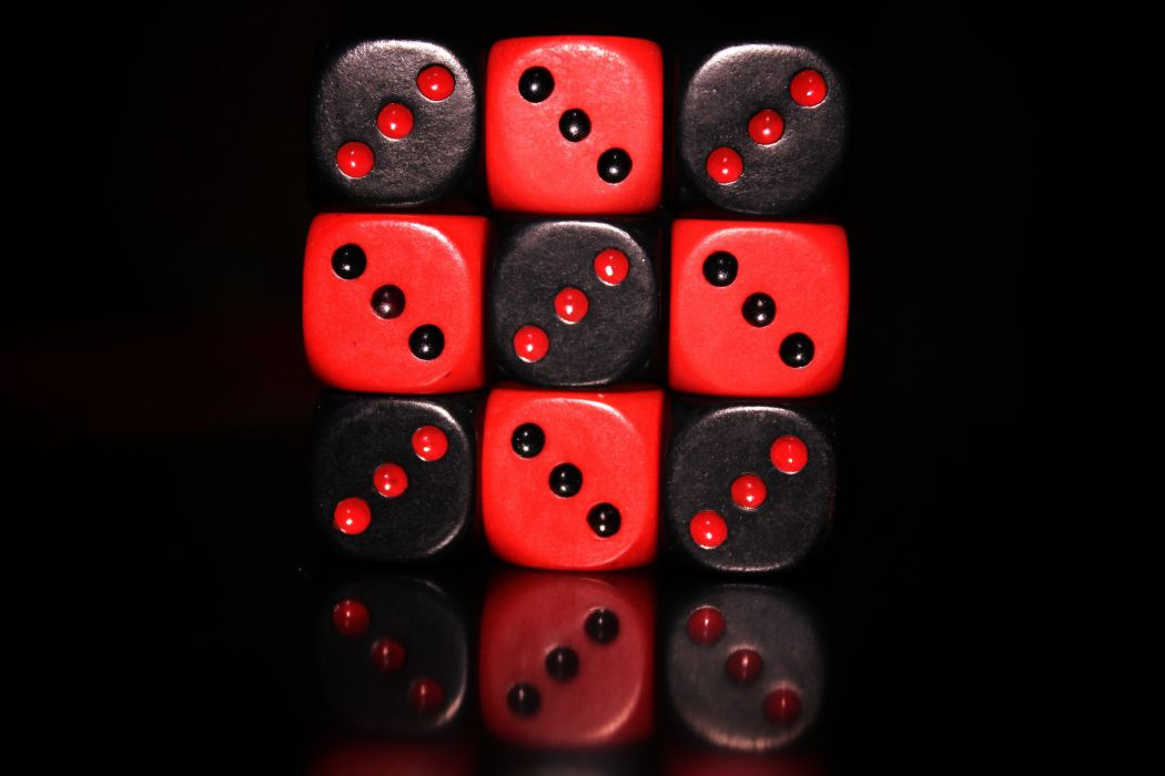 black red dice GreenPictures wallpaper