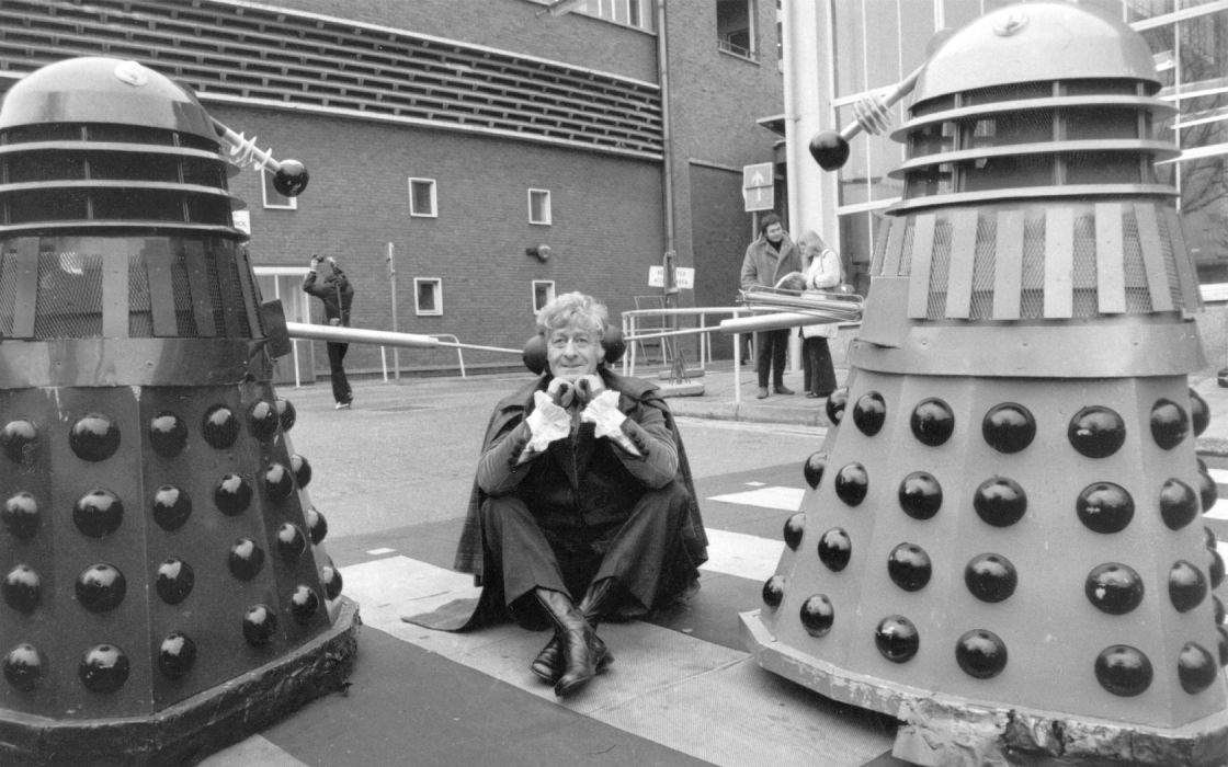 Dalek Doctor Who Jon Pertwee Third Doctor wallpaper