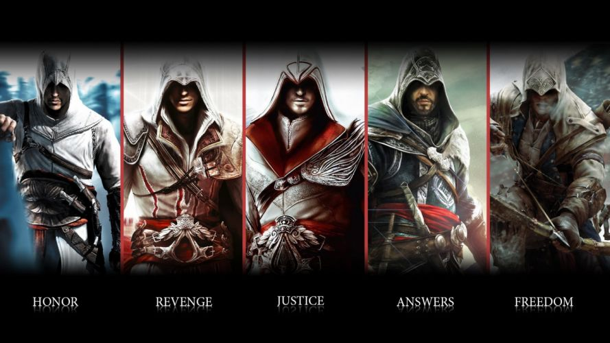 assassins creed Ezio connor Altair ubisoft animus assassin blade weapon warrior wallpaper