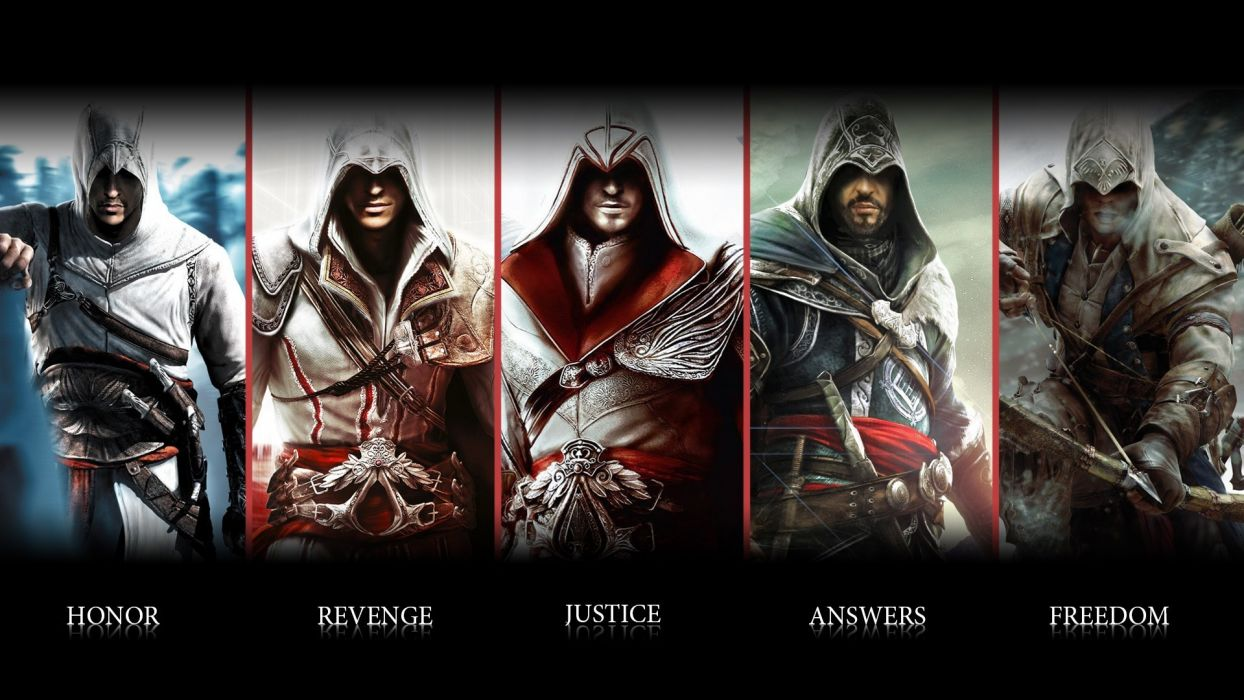 Assassins Creed Ezio Connor Altair Ubisoft Animus Assassin Blade