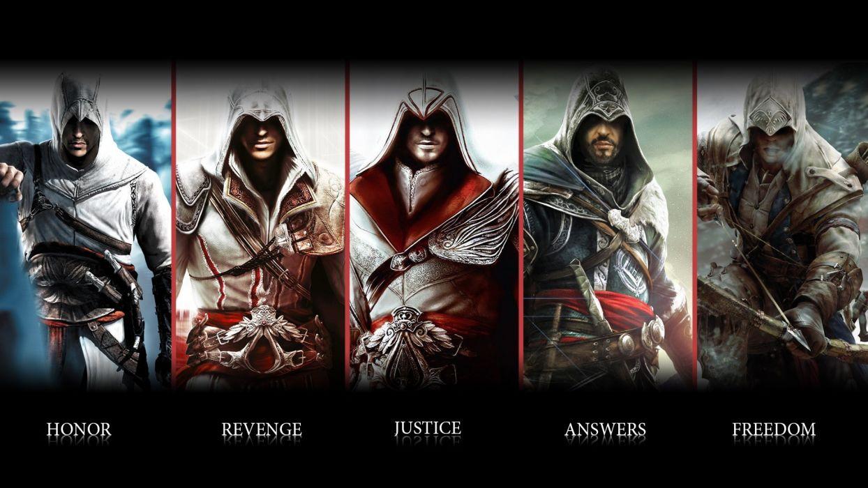 Assassins Creed Ezio Connor Altair Ubisoft Animus Assassin Blade Weapon Warrior Wallpaper 1920x1080 75143 Wallpaperup