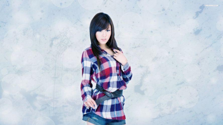 Brunette Asian Hwang Mi Hee wallpaper