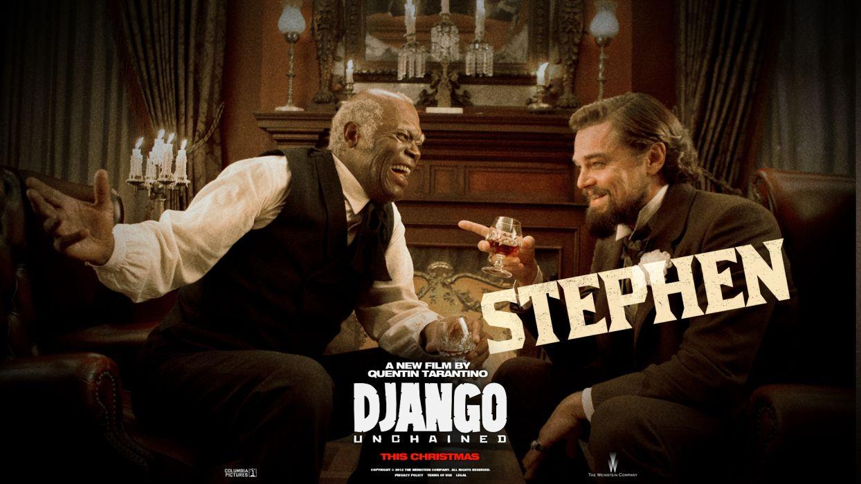 Django Unchained Leonardo DiCaprio Samuel L Jackson wallpaper