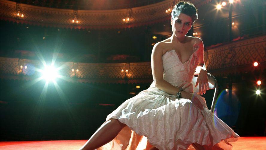 Neve Campbell Brunette Dress Theater Light Brunettes women females actress wallpaper