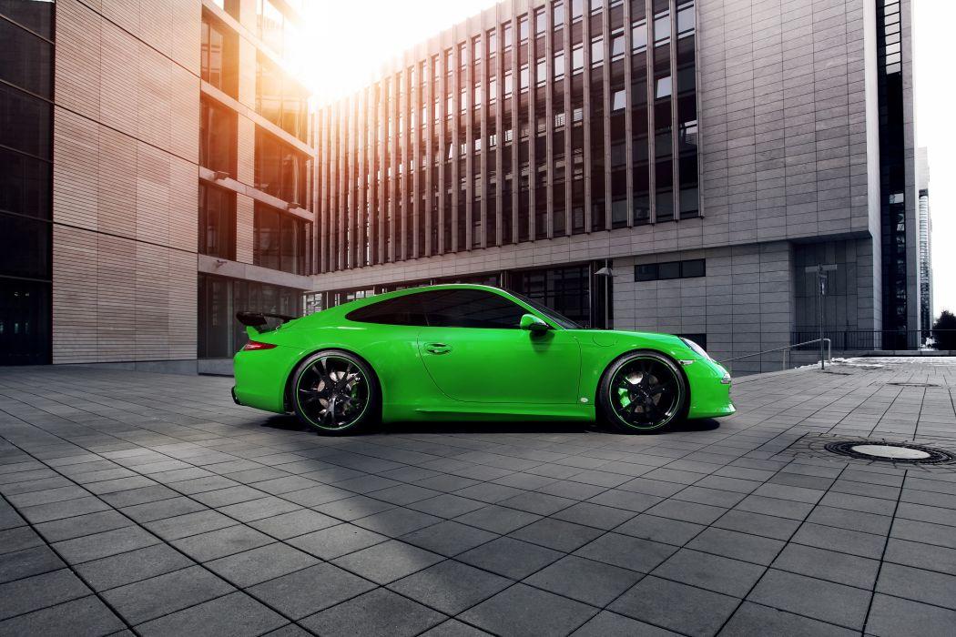 Porsche 2013 911 ( 991 ) Carrera 4S Green Side Cars supercar tuning wallpaper