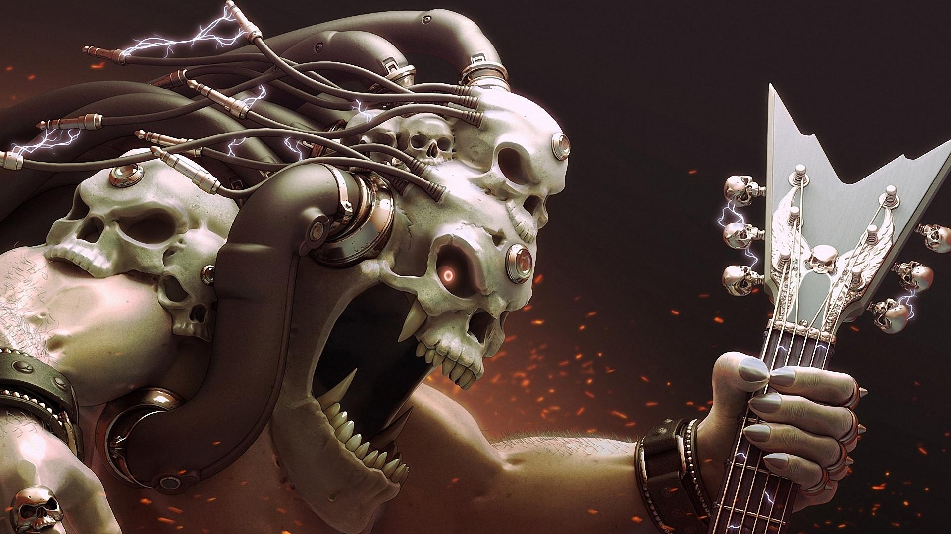 monster skull black wallpaper - photo #7