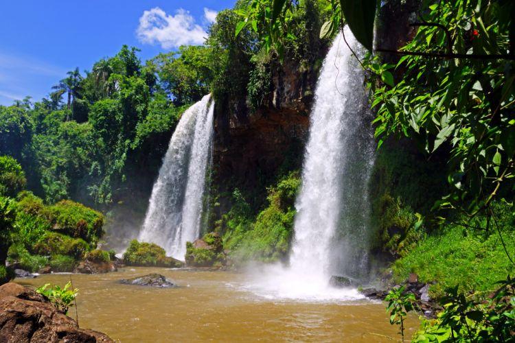 Waterfalls Argentina Iguazu Nature rivers wallpaper