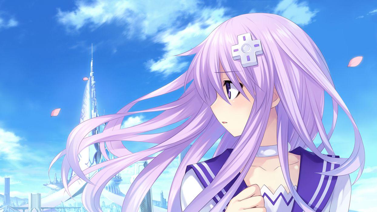 game cg hyperdimension neptunia mk2 long hair nepgear purple eyes purple hair tsunako wallpaper