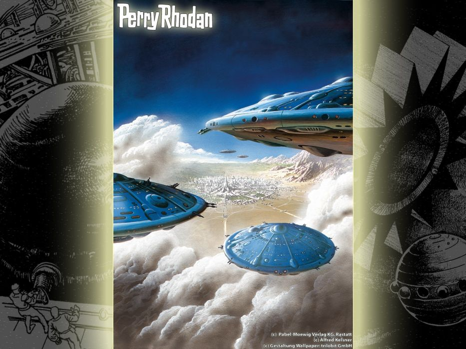 magazines spaceships Perry Rhodan magazine covers wallpaper