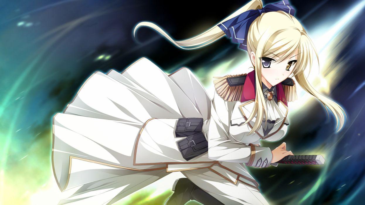 game cg kimishima ao otome ga tsumugu koi no canvas sword katana wallpaper