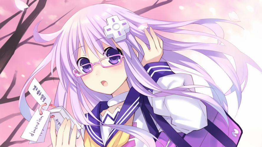 hyperdimension neptunia mk2 long hair nepgear purple eyes purple hair tsunako wallpaper