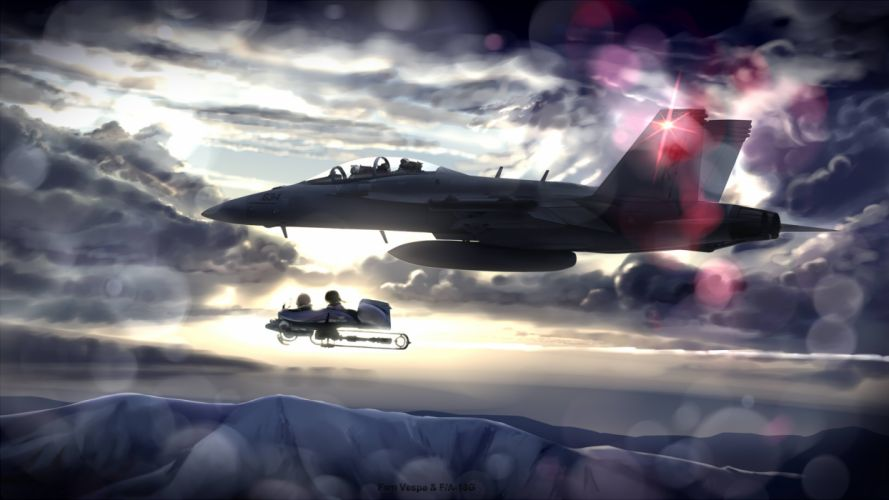 aircraft chipika clouds last exile sky tagme tagme (character) military jet jets sky wallpaper