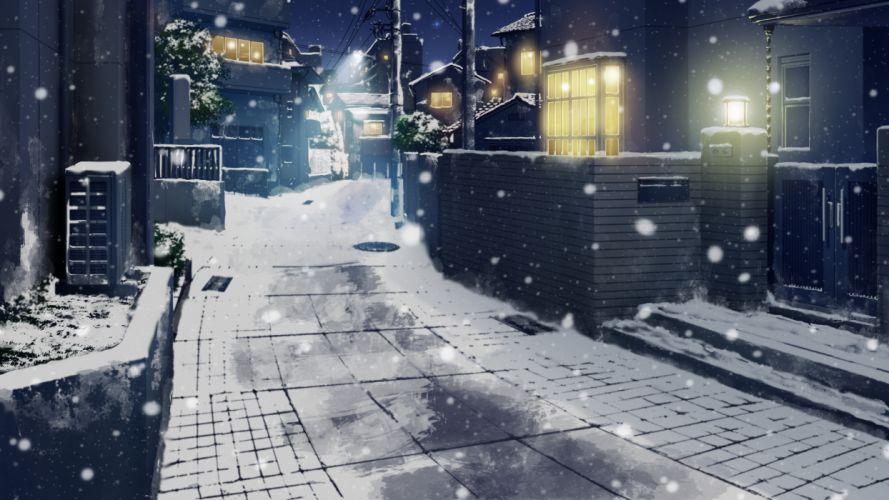building city game cg giga hotchkiss scenic snow wallpaper