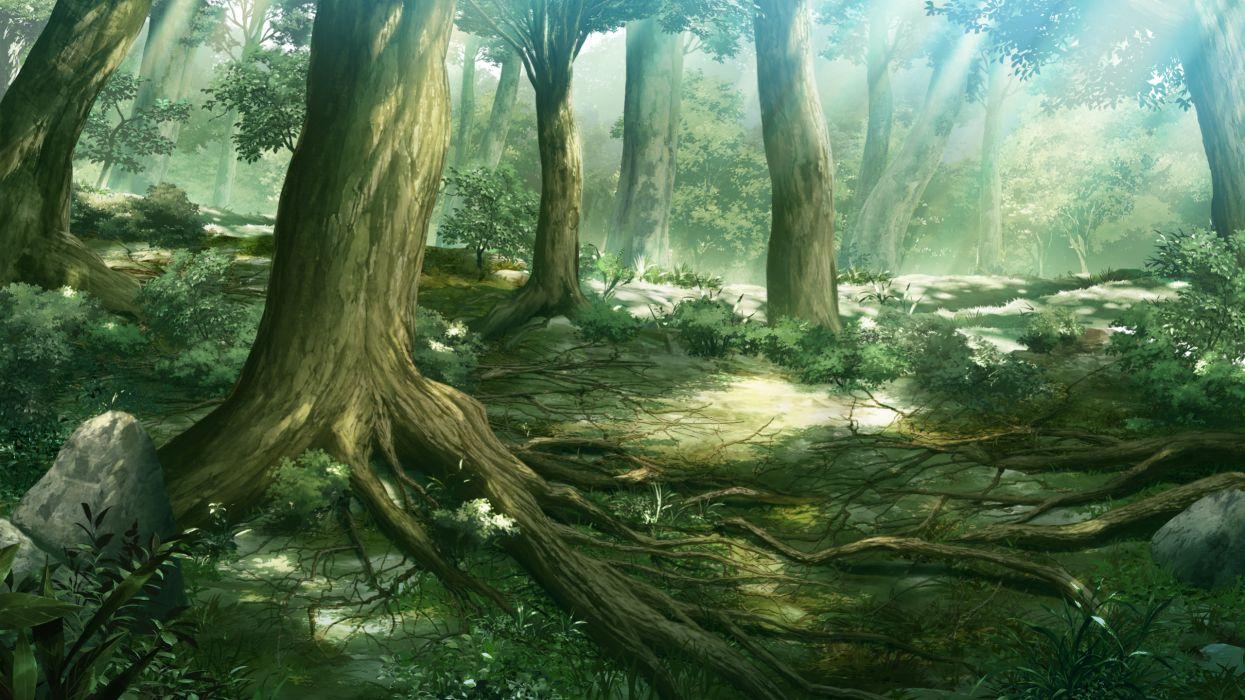 forest game cg grisaia no kajitsu grisaia no meikyu scenic tree wallpaper