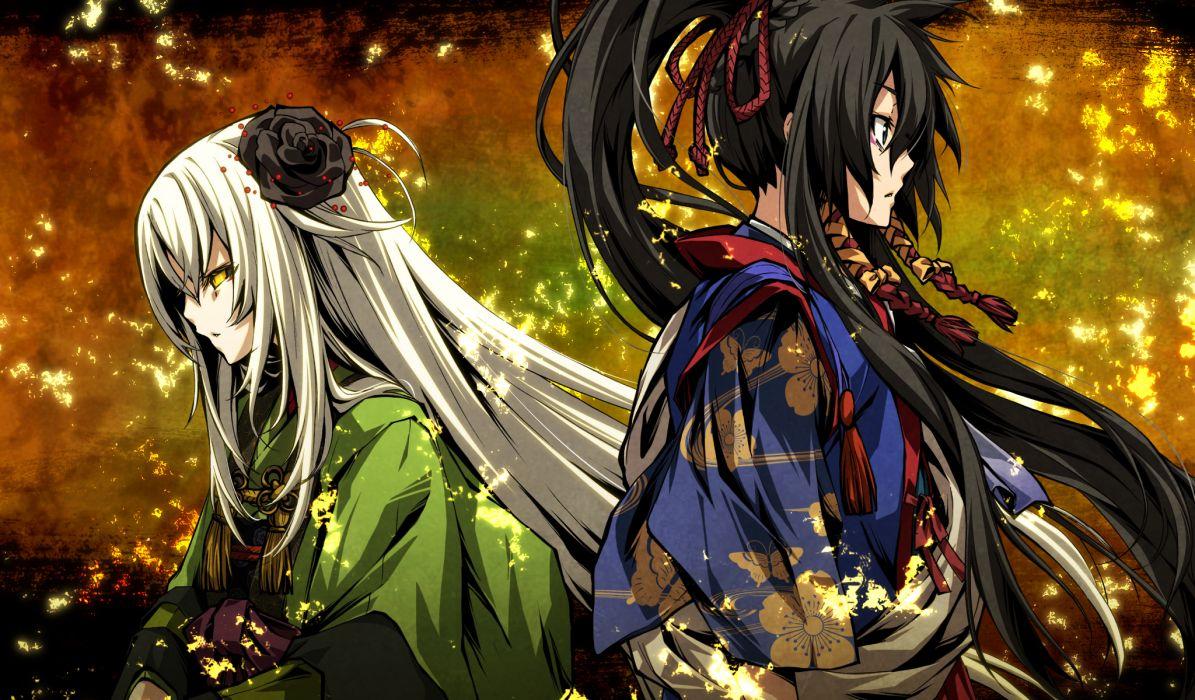 g yuusuke game cg kajiri kamui kagura koga rindou tenma tokoyo wallpaper