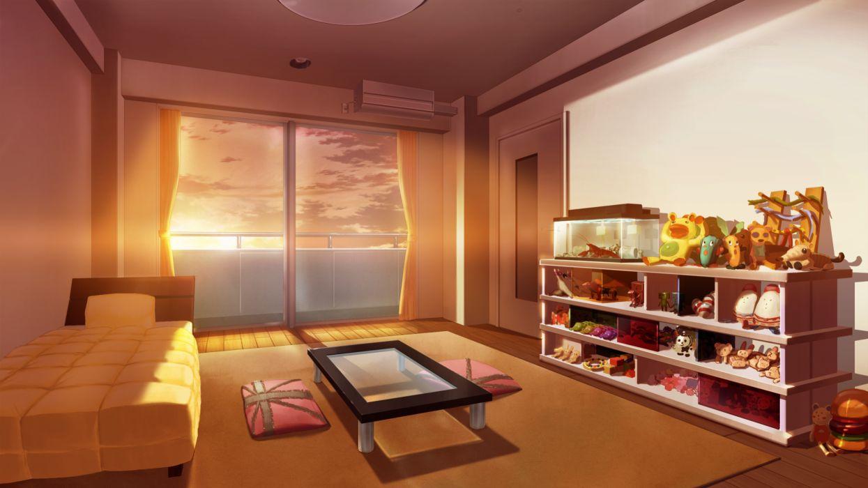game cg grisaia no kajitsu scenic sunset wallpaper