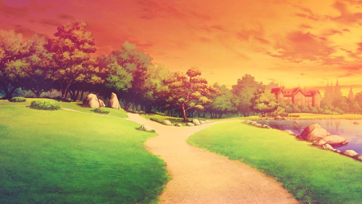 game cg landscape scenic shinsei ni shite okasubekarazu tree wallpaper