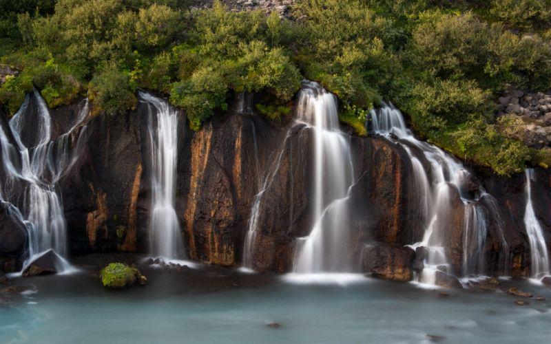 river waterfall nature wallpaper
