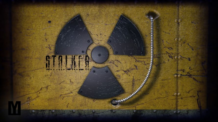 STALKER Radiation sign metal wallpaper