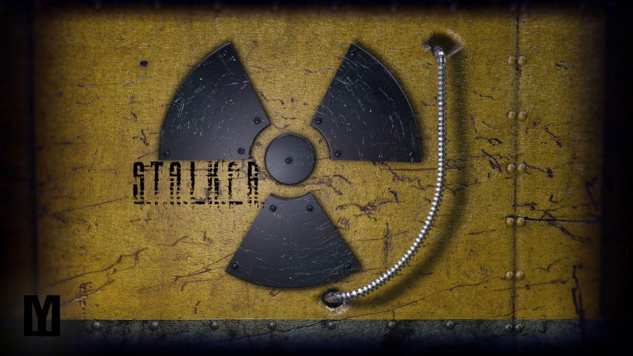 STALKER  Radiation  sign  metal wallpaper