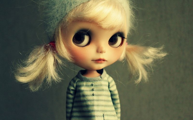 doll toy blonde looking look jacket hat tails eyes face wallpaper
