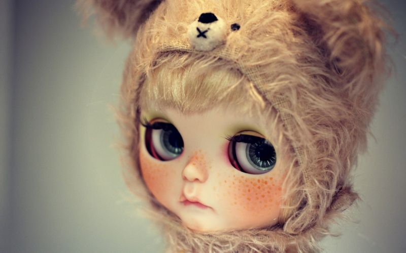 doll_ view hat freckles eyes wallpaper