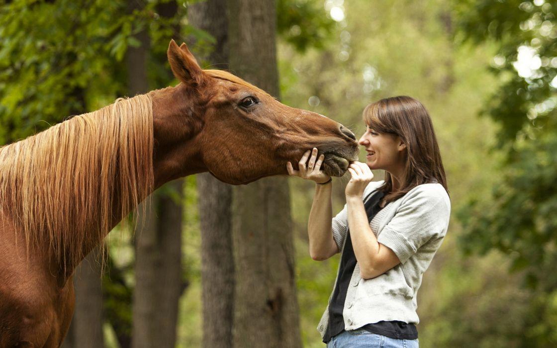 girl  horse  background wallpaper