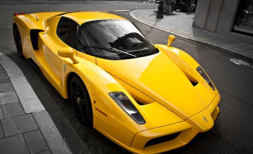 ferrari Enzo Luxury yellow Ferrari yellow supercar tuning wallpaper