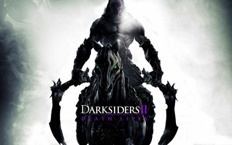 Darksiders 2 Rider scythes horse wallpaper