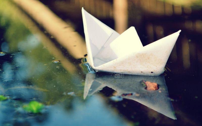 paper boat wallpaper