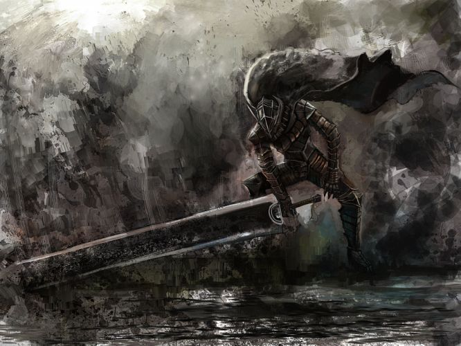 armor bccp berserk cape dark guts sword weapon wallpaper