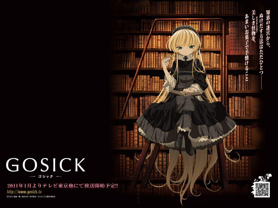 blonde hair dress gosick goth-loli long hair victorique de broix wallpaper