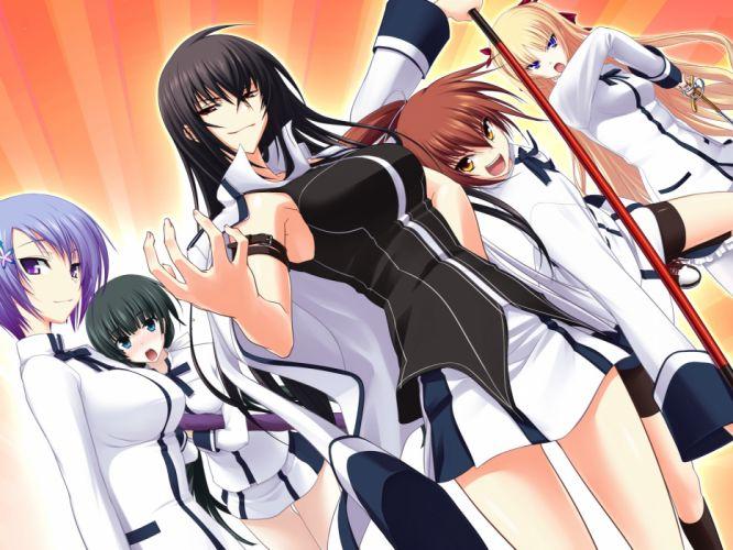 christiane friedrich game cg kawagishi keitarou kawakami kazuko kawakami momoyo mayuzumi yukie seifuku shiina miyako weapon wallpaper