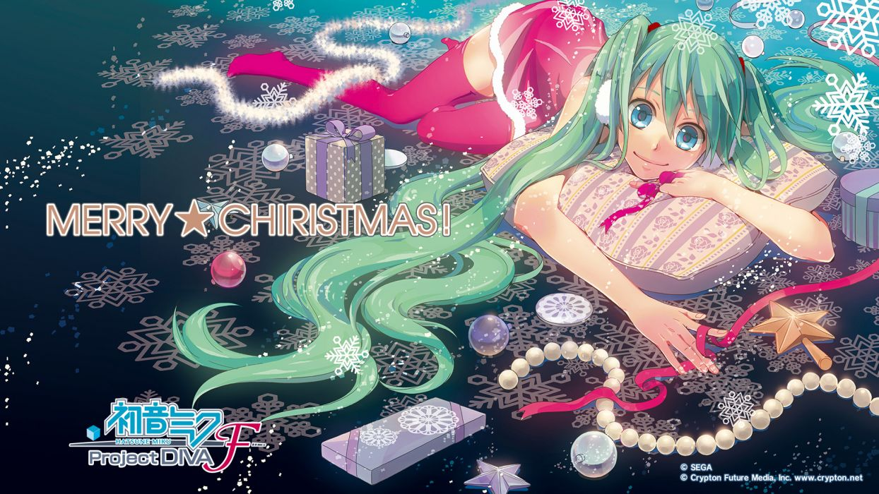 Christmas Hatsune Miku.Christmas Hatsune Miku Jpeg Artifacts Project Diva Vocaloid