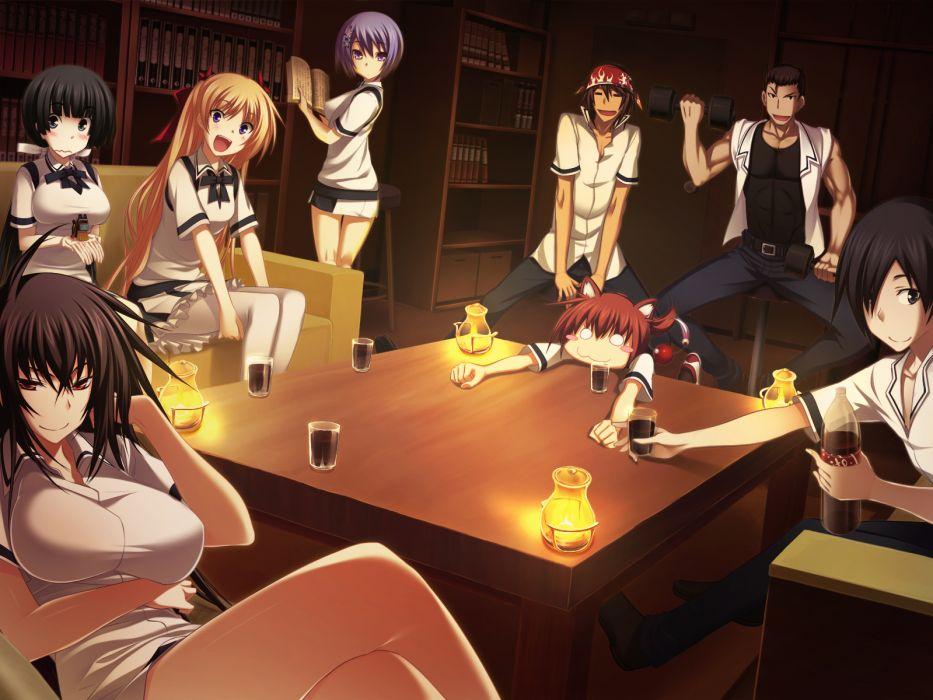 drink game cg kawagishi keitarou kawakami kazuko kawakami momoyo kazama shouichi mayuzumi yukie morooka takuya seifuku shiina miyako shimazu gakuto wallpaper