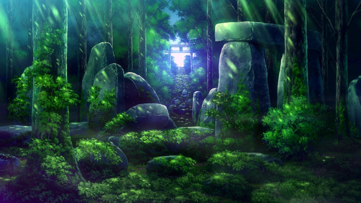 forest game cg scenic skyfish tree tsukumo no kanade wallpaper