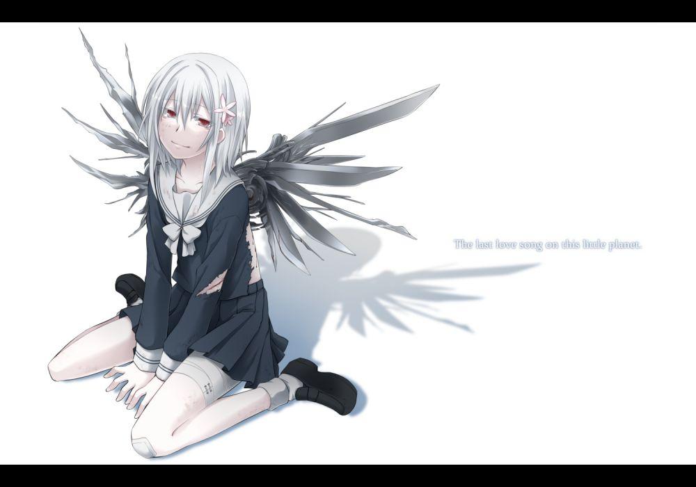 genderswap idora parody saikano seifuku suzushina yuriko to aru majutsu no index torn clothes white wings wallpaper