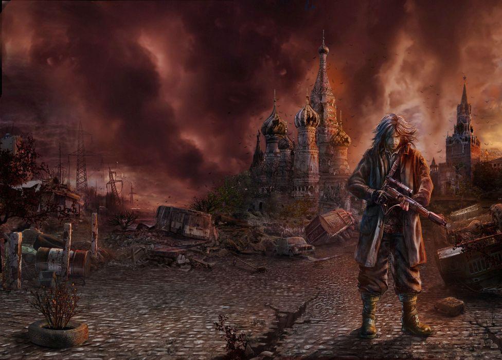 Apocalyptic Moscow Man Warriors Fantasy prince persia sci-fi wallpaper