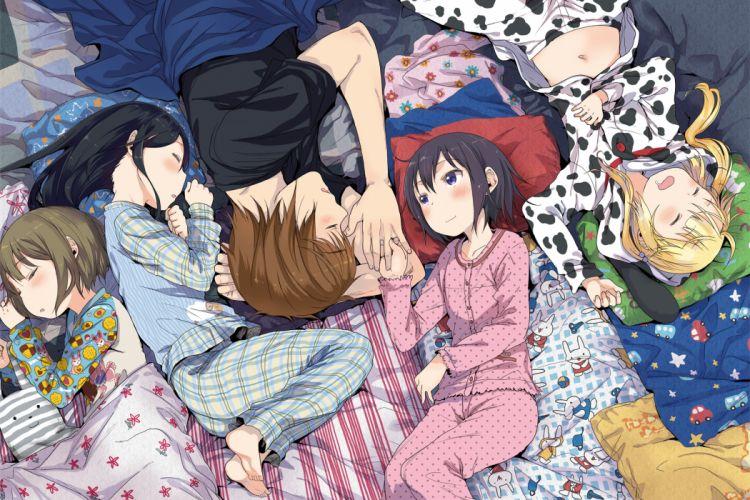 arekusa mahon pajamas sleeping wallpaper