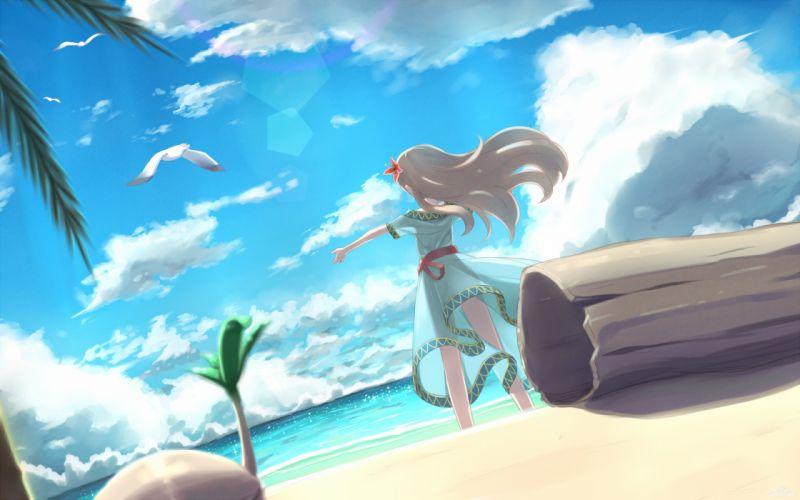 beach clouds dress marin mille summer dress the legend of zelda wallpaper