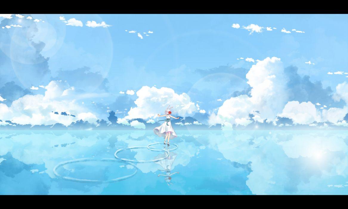 blue clouds dj max dj max portable dress dusk dawn sky tagme water wallpaper