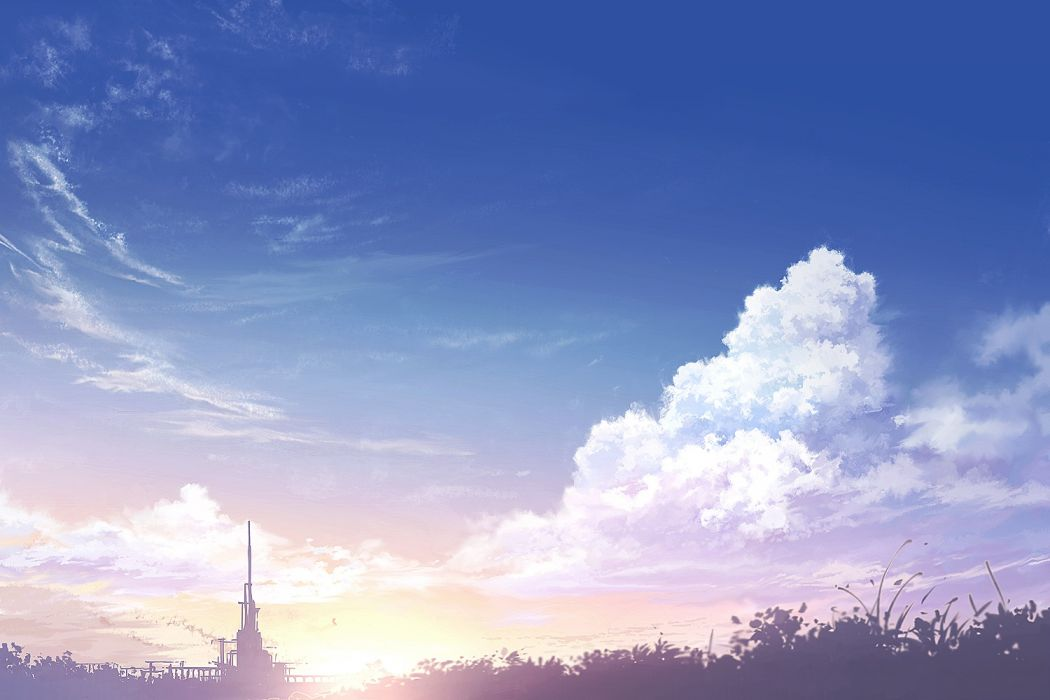 clouds juuyonkou original scenic sky sunset wallpaper