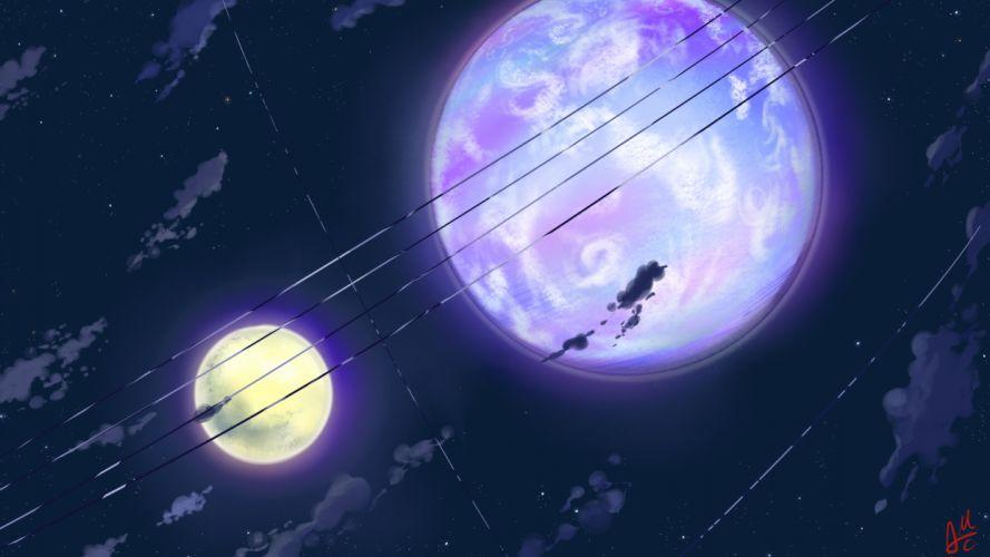 clouds mac naut moon night original scenic signed sky stars wallpaper