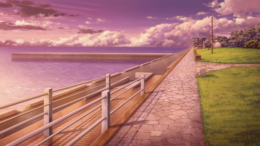 game cg grass scenic strawberry feels water wallpaper